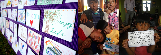 The Gift of Giving  Donation Family Yoga Class and making of  Postcards to Peru for the Holidays!